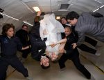 Couple marries in Zero Gravity...